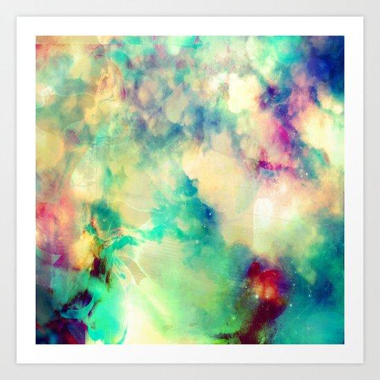 Fume Color Splash 02 Art Print