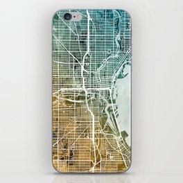 Milwaukee Wisconsin City Map iPhone Skin