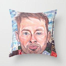 Thom Yorke Radiohead Hail to The Theif Throw Pillow