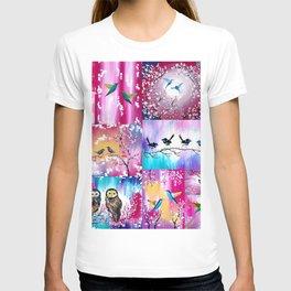 Pink collage T-shirt