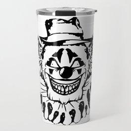 Black and white Evil Clown Travel Mug