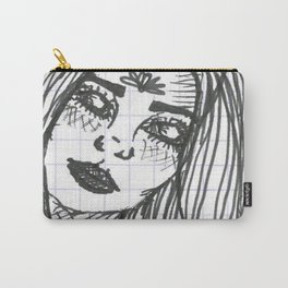 White Eyes Carry-All Pouch