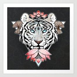 Tiger's lotus Art Print