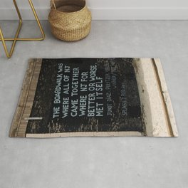 Jersey Shore Boardwalk / Junot Diaz Quote Rug