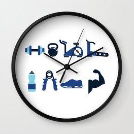 Fit Fam Wall Clock