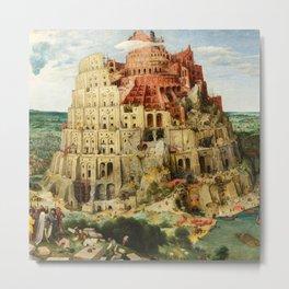 The Tower of Babel by Pieter Bruegel the Elder, 1563 Metal Print
