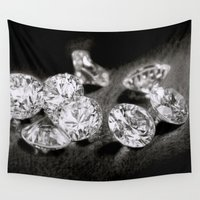 diamonds Wall Tapestries featuring Diamonds by Giampaolo Casarini