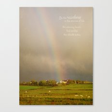 Be the Rainbow Canvas Print