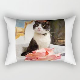 Orazio the charming cat Rectangular Pillow