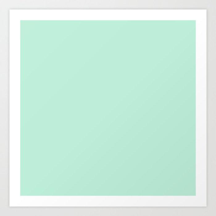 Mint Green Pastel Solid Color Block Spring Summer Kunstdrucke