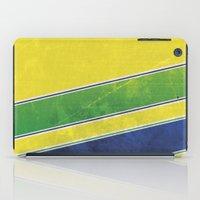 senna iPad Cases featuring Ayrton Senna - I have no idols by Kelvin Farrell