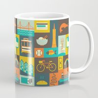san francisco Mugs featuring San Francisco by Ariel Wilson