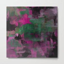Deep Purple - Abstract, textured painting Metal Print
