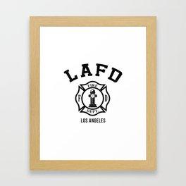 Firefighters LA Framed Art Print