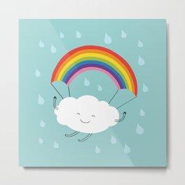 rainbow parachute Metal Print