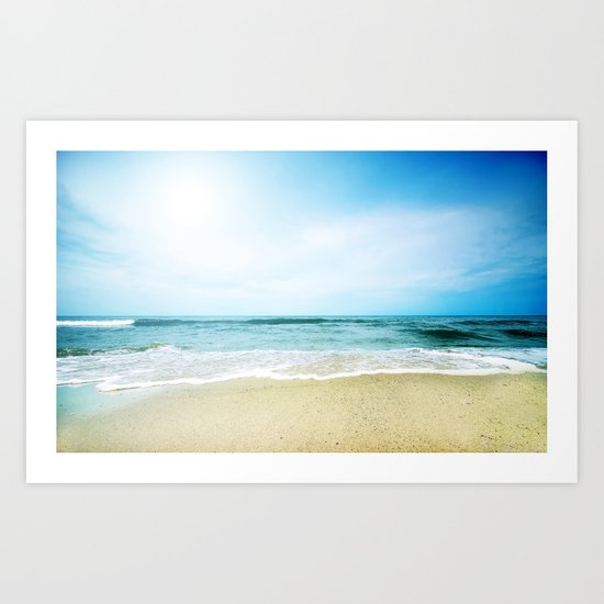 Paradise Ocean waves Art Print