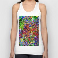 seashell Tank Tops featuring offshore seashell by donphil