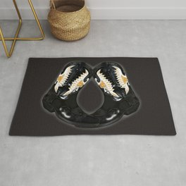 Crocked Boots in gray Rug