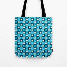 Pattern Cube Blue Tote Bag