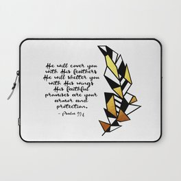 Gold Feather Design Laptop Sleeve