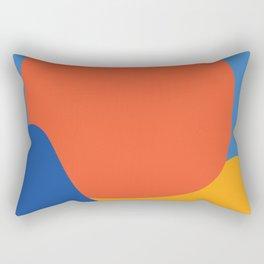 Sun Art Print - Abstract Sun Print - Yellow Sun Art - Retro Poster Print - Farmhouse Wall Art Rectangular Pillow