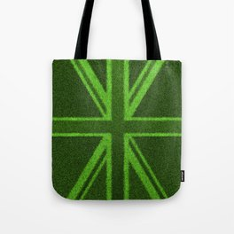 Grass Britain / 3D render of British flag grown from grass Tote Bag