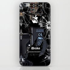Broken, rupture, damaged, cracked black apple iPhone 4 5 5s 5c, ipad, pillow case and tshirt iPhone Skin