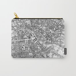 Vintage Map of Berlin (1846) BW Carry-All Pouch