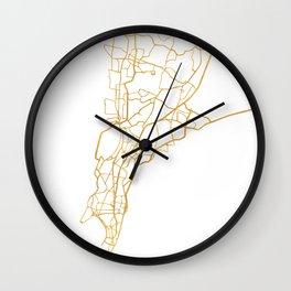 MUMBAI INDIA CITY STREET MAP ART Wall Clock