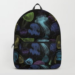 Electric Jellyfish in Black Backpack