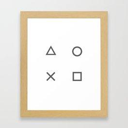 Grey Gamer Framed Art Print