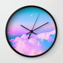 Bubblegum Sky Wall Clock