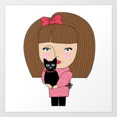 Mss Cat Art Print