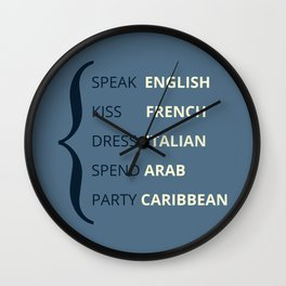 Travel Language  Wall Clock