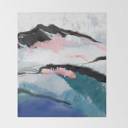 snow mountain Throw Blanket