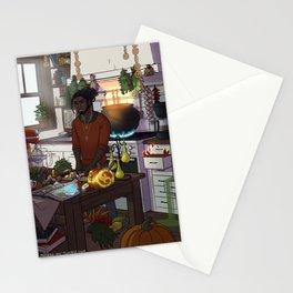Modern Male Witch Kitchen Stationery Cards