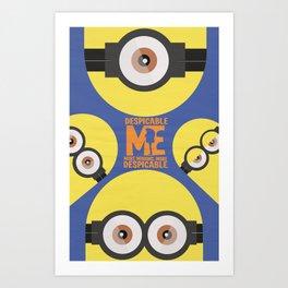 Gru, 3D animated movie poster, cartoon, children, minimalist playbill, Steve Carell Art Print