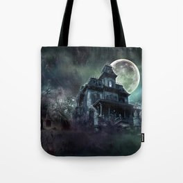 The Haunted House Tote Bag