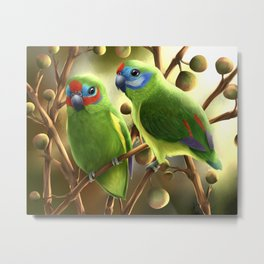 Double-eyed Fig Parrot Metal Print
