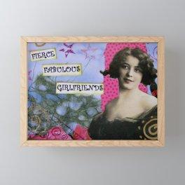 Girlfriends, Fierce Fabulous Girlfriends, Mixed Media Art Framed Mini Art Print