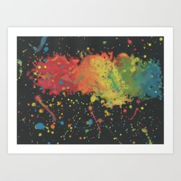 Abstract Cloud Rainbow Art Print