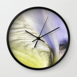 Abstract Of The Iris Wall Clock