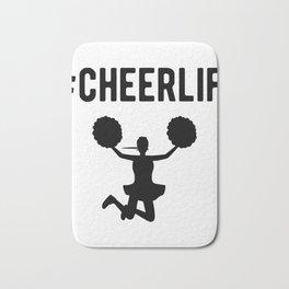 Hashtag Cheerlife Funny Cheerleader Graphic Bath Mat