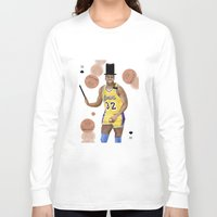 allyson johnson Long Sleeve T-shirts featuring Magic(ian) Johnson by Dano77