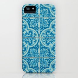 Azulejos azules iPhone Case
