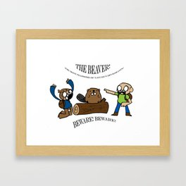 Beaver Safety Shirt! (by Steak n' Egg) Framed Art Print