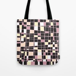 abstract background tile vitrage illustration geometric decorative mosaic art pattern Tote Bag