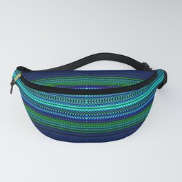 Nautical Rag Weave Quad 1 by Chris Sparks Fanny Pack