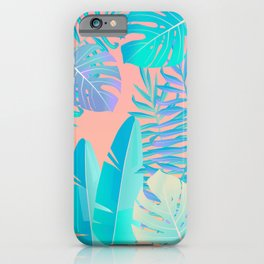 Tropics ( monstera and banana leaf pattern ) iPhone Case
