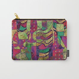 Wine Glass Abstract Art Decor Carry-All Pouch